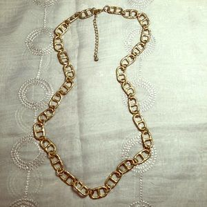 Oval link gold-tone necklace
